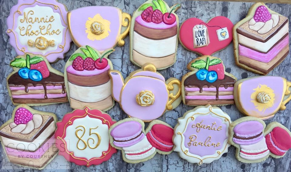 Tea Party Birthday Cookies