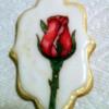 Handpainted Rose Cookie