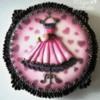 pink dress- vintage style