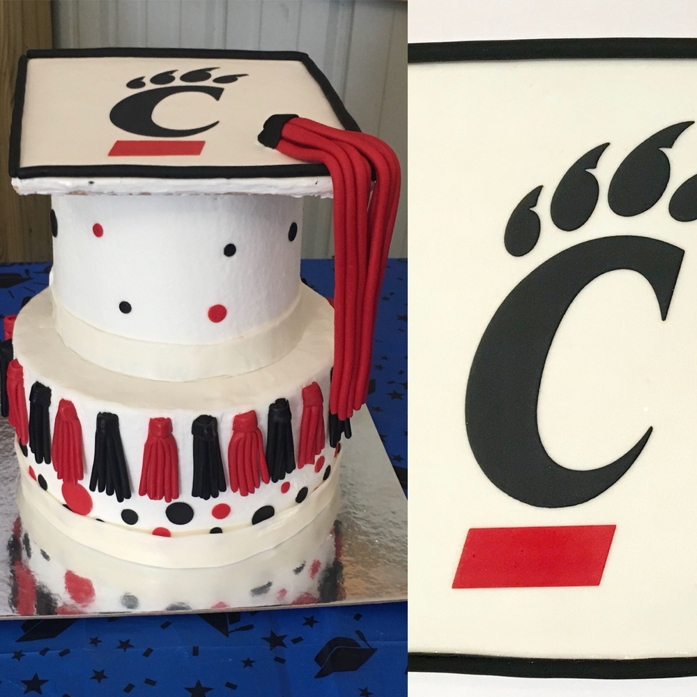 Cookie Graduation Cap as Cake Topper