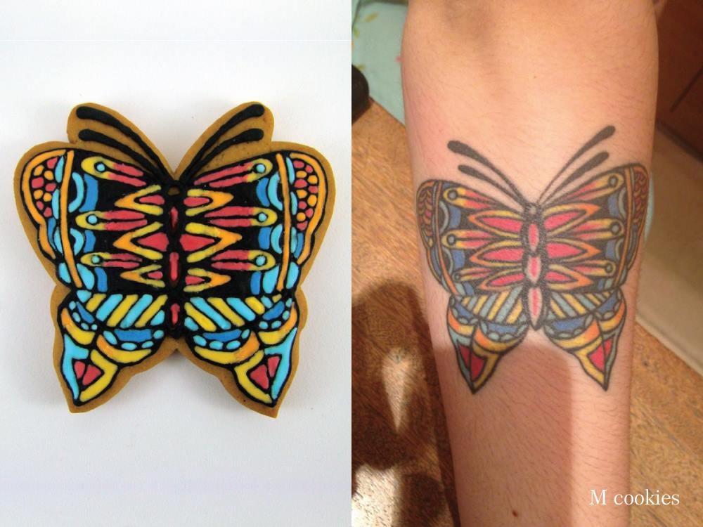 MCookies tatto butterfly