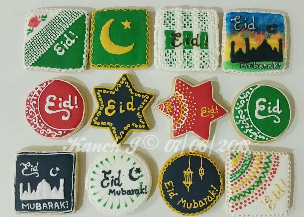 Eid Mubarak Cookies by Kanch J