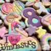 Gymnastics and Unicorn Birthday Cookies