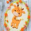 Sweet baby giraffe