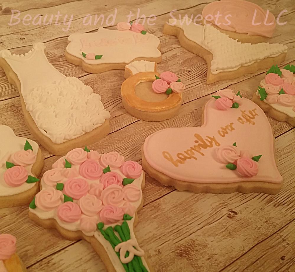 Bridal Cookies - Side View