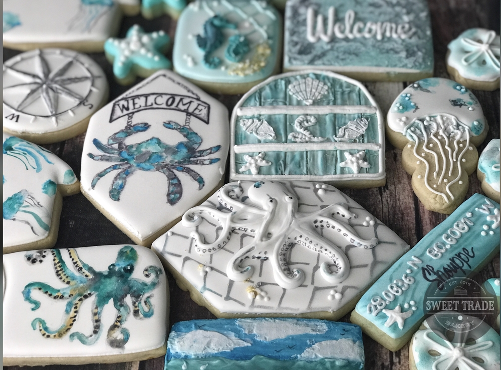 Housewarming Cookies with Beach Theme