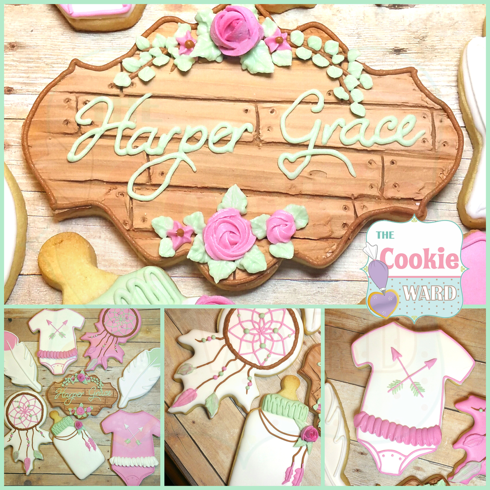 Boho Baby Shower Cookies
