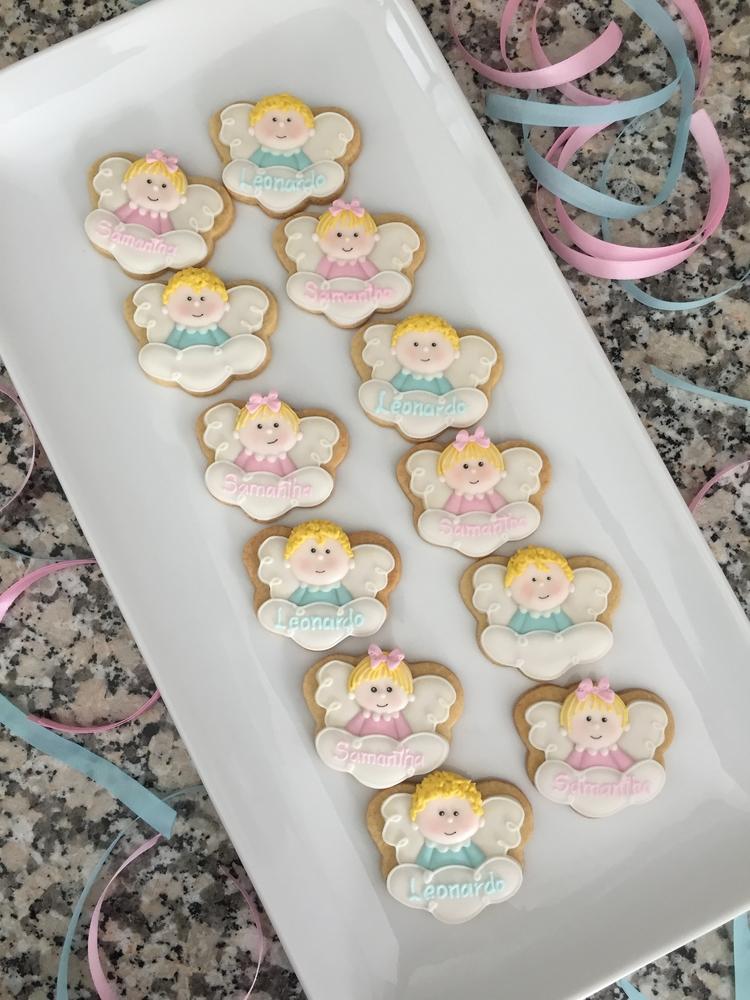 Baby angels christening mini cookies