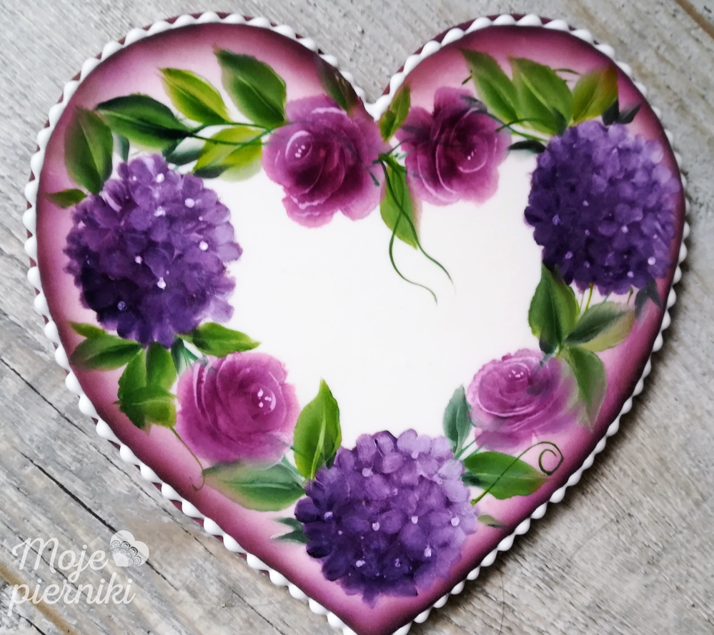 Heart in painted flowers