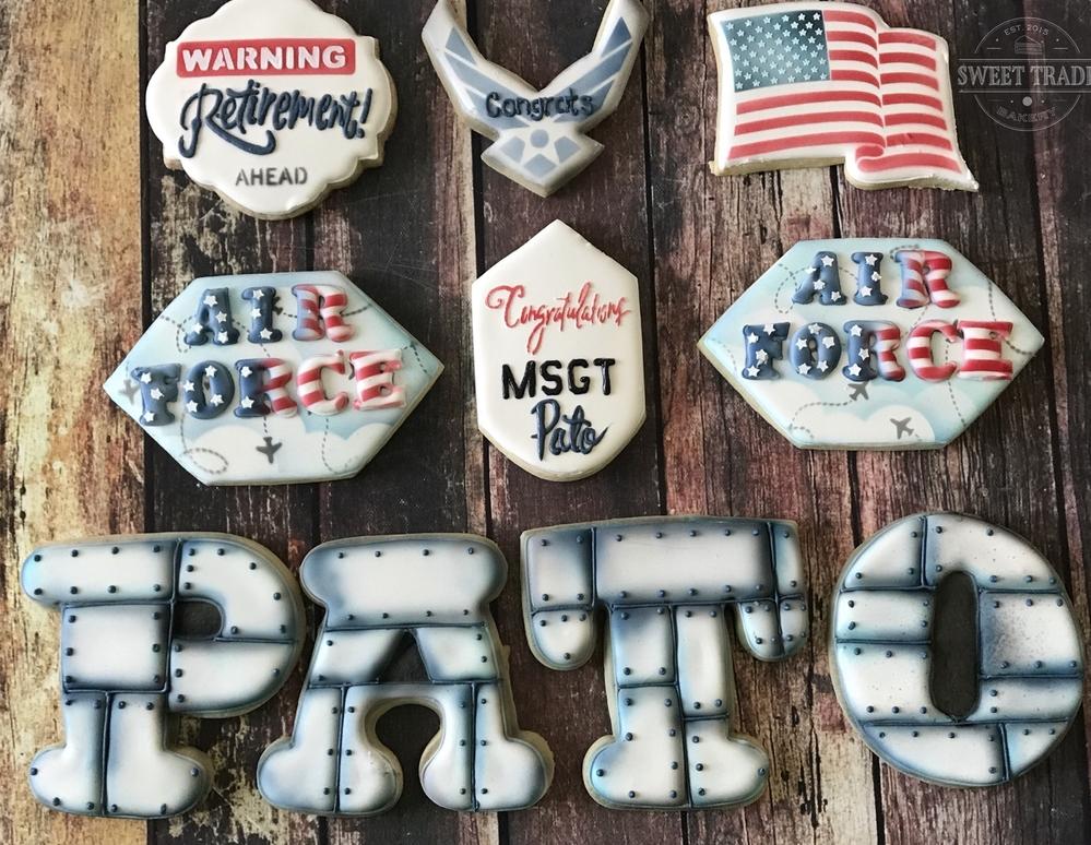 Air Force Retirement cookies