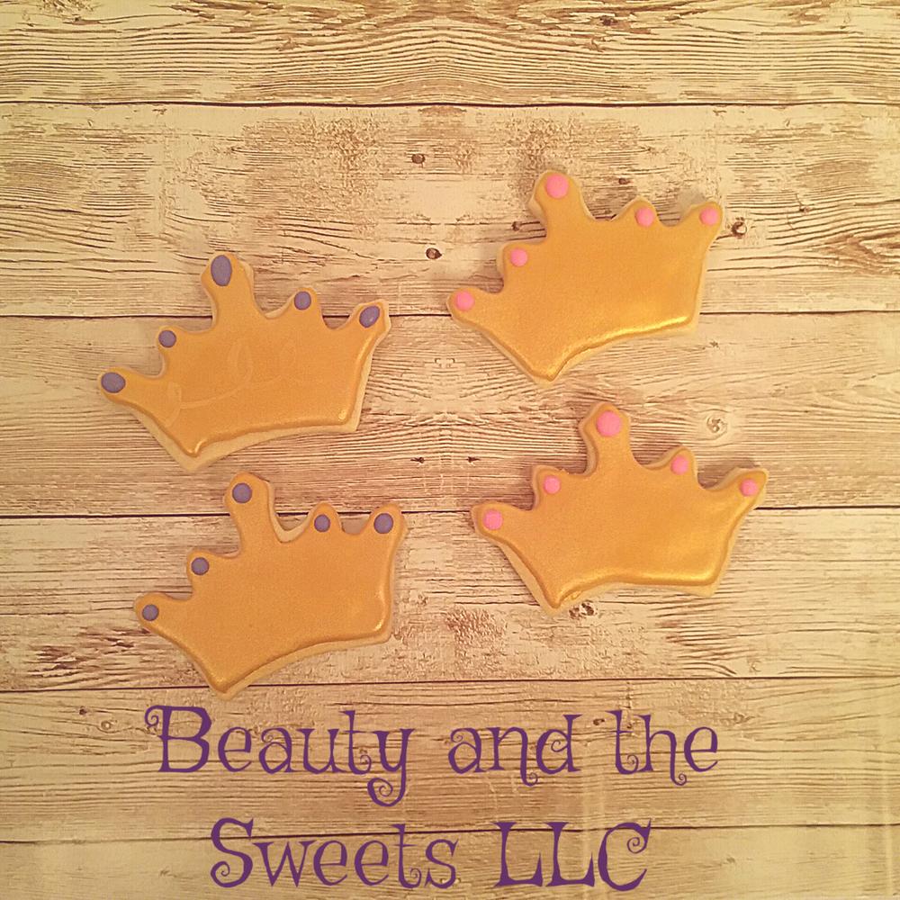 simple crown cookies
