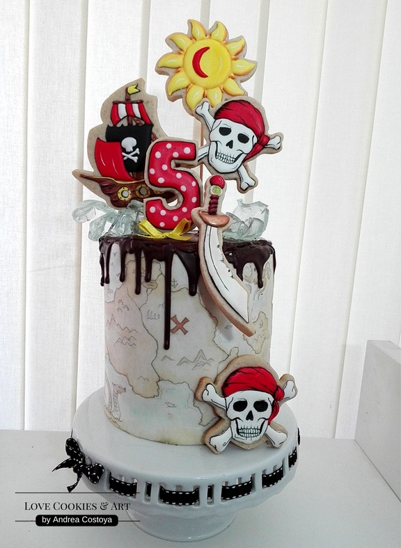 Pirate's Cookie Cake, Another View