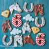 Horse Birthday Cookie Set by Peony Cookies Studio