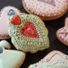 Vintage brooch cookie