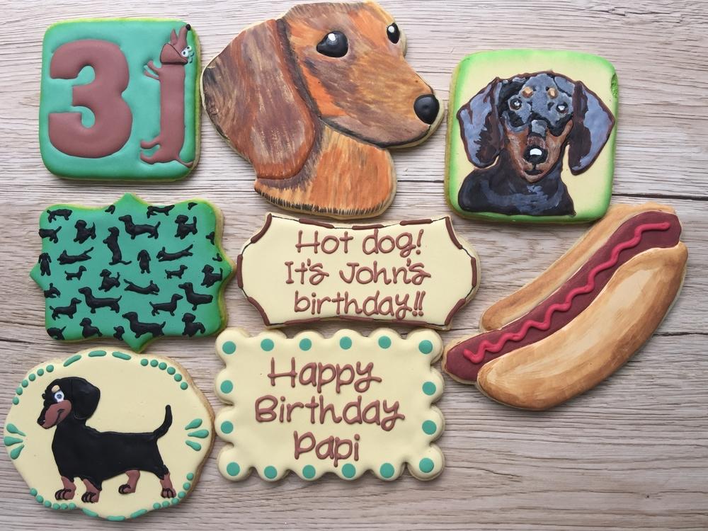 Dachsund-lover's birthday set!