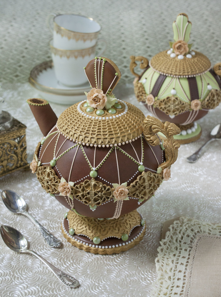 3-D Teapot Cookie - Another Style, Close-up