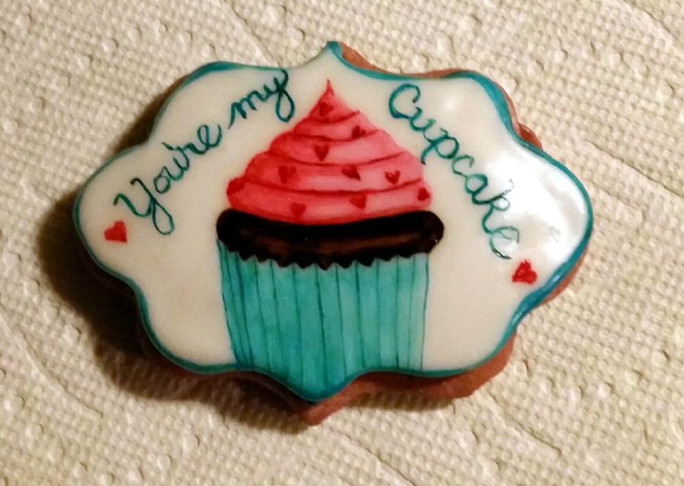 Cupcake Valentine Cookie