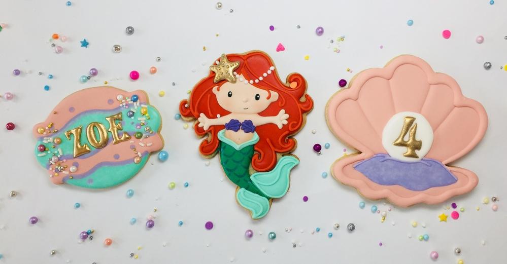 Little Mermaid Birthday Cookies