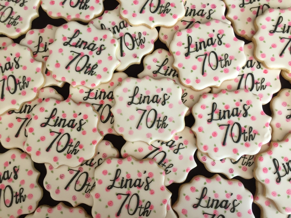 Lina's 70th birthday cookies