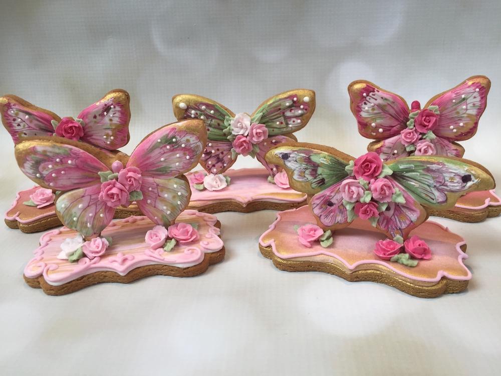 3-D Handpainted Butterflies