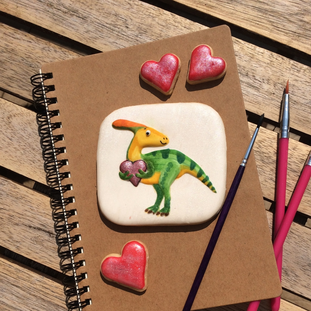 Cute Parasauroloph Cookie