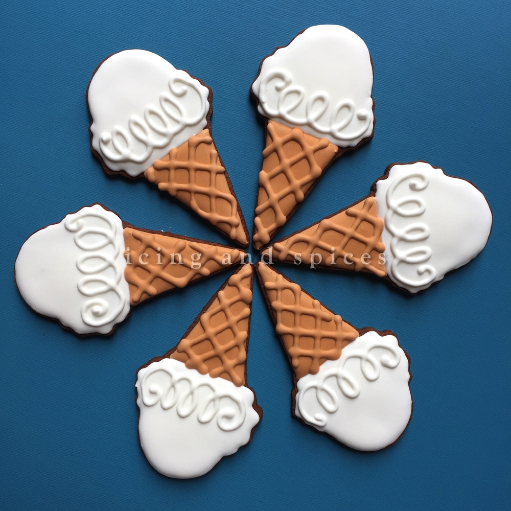 Ice Cream Cones by Icing and Spices
