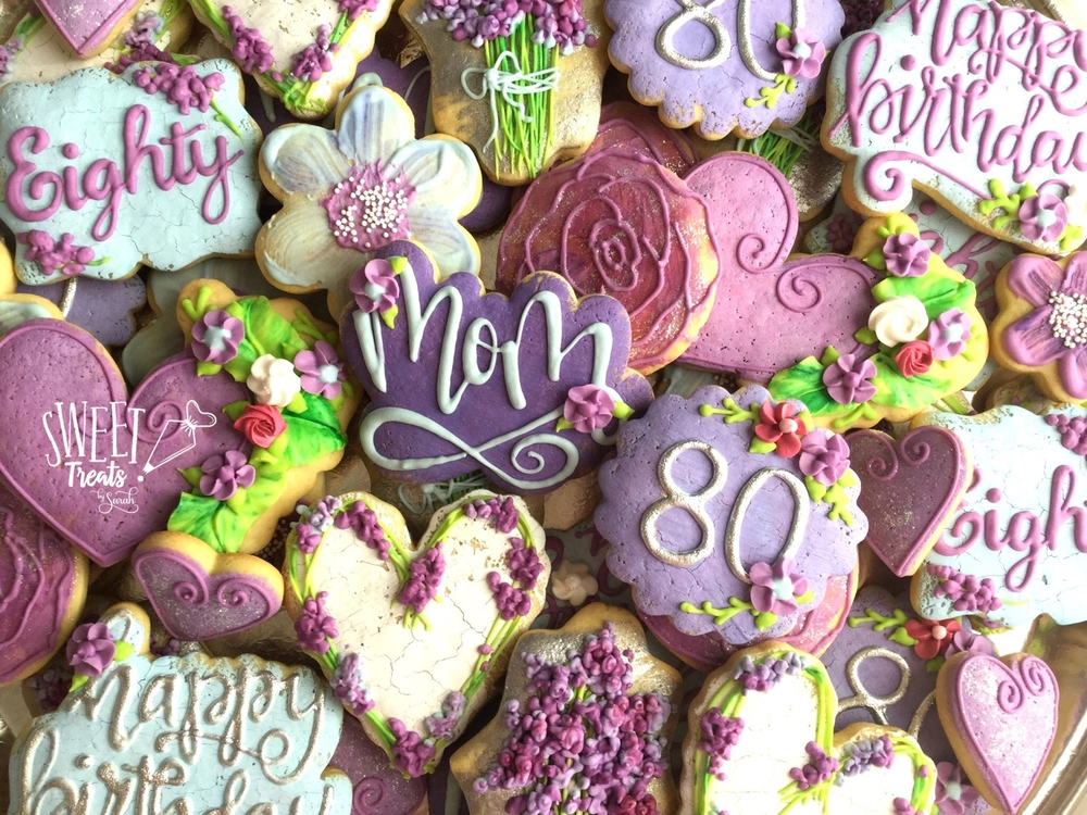Lightly Iced Floral Cookies