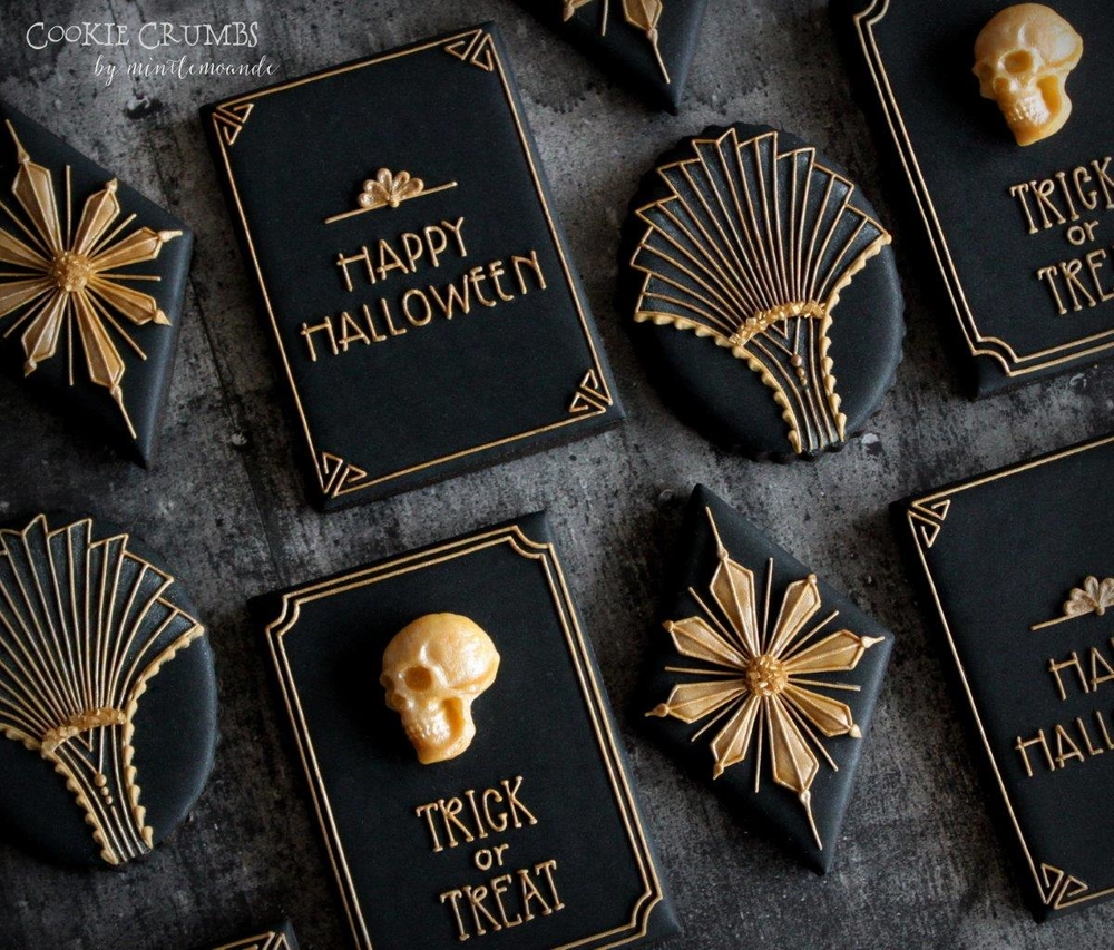 Art Deco Halloween Cookies