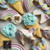 Lorena Rodríguez. Unicorn and rainbow cookies