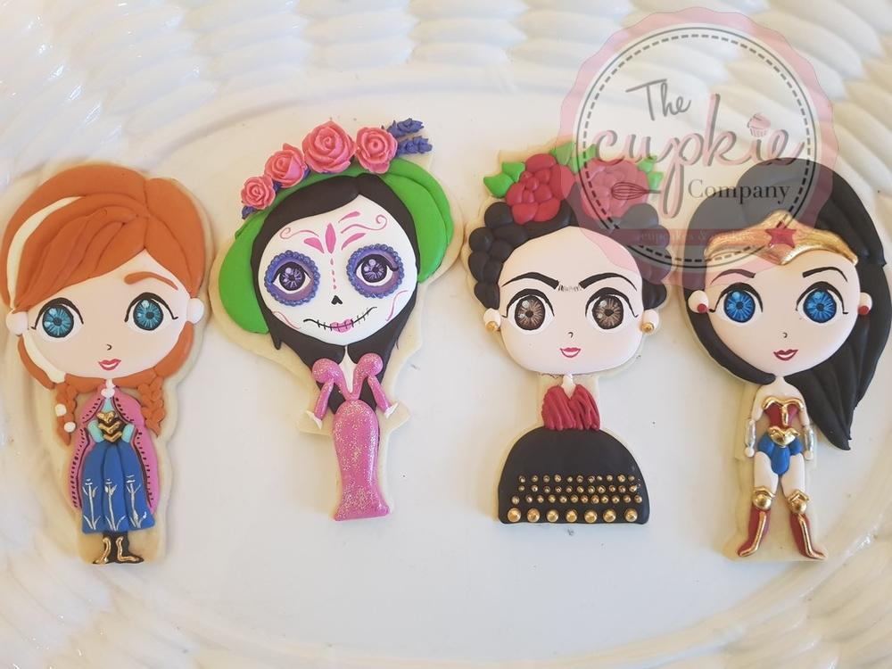 Ana, La Catrina, Frida y Wonder Woman