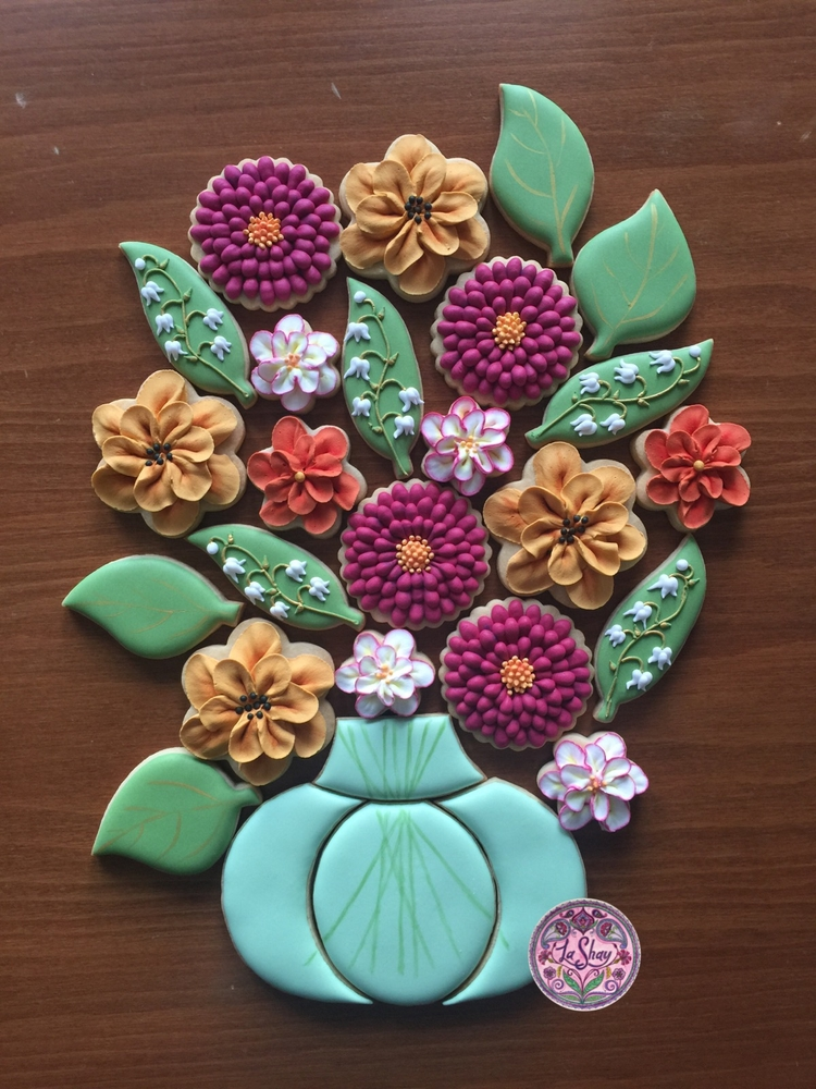 Flower Cookie Platter