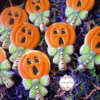 Pumpkin lollipops