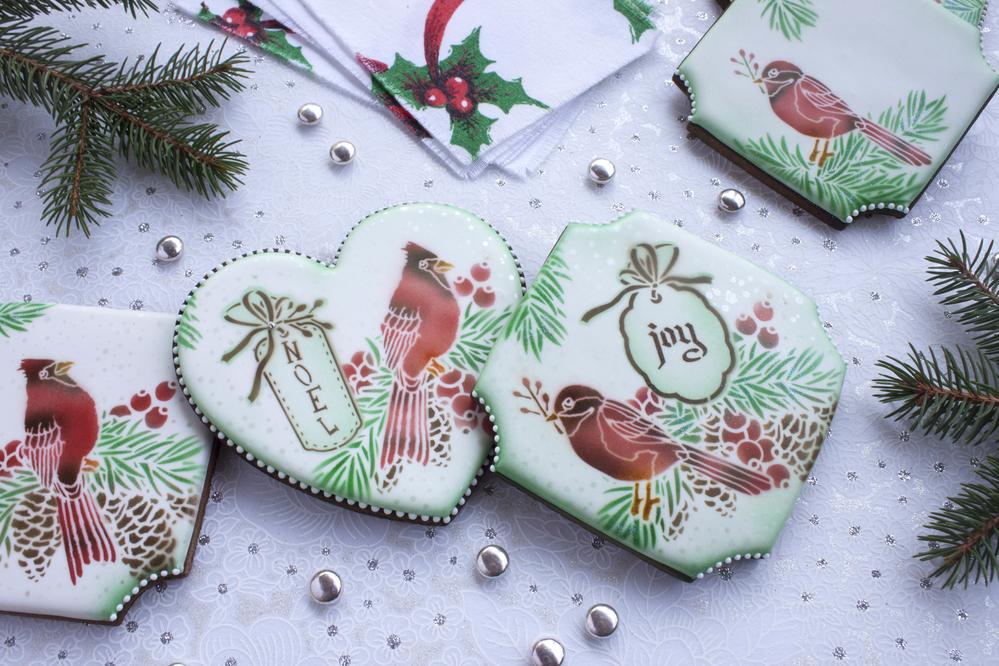 Christmas Cardinal Cookies