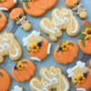 Fall themed baby cookies