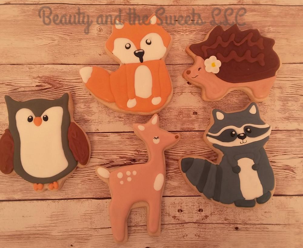 Woodland Creature Cookies