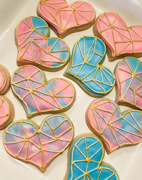 Marbled Heart Cookies Astrology