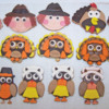 Fondant Covered Thanksgivng Sugar Cookies