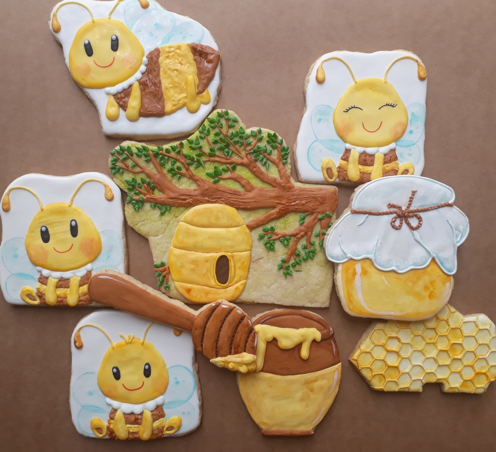 Honey and bees cookies