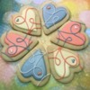 Paiges Designer Cookies 2018 Colorful string hearts 2