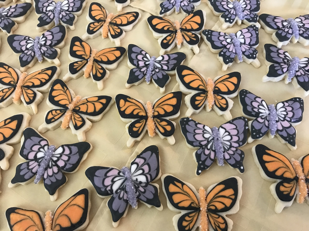 Butterfly Cookies for a Girl's Fourth Birthday