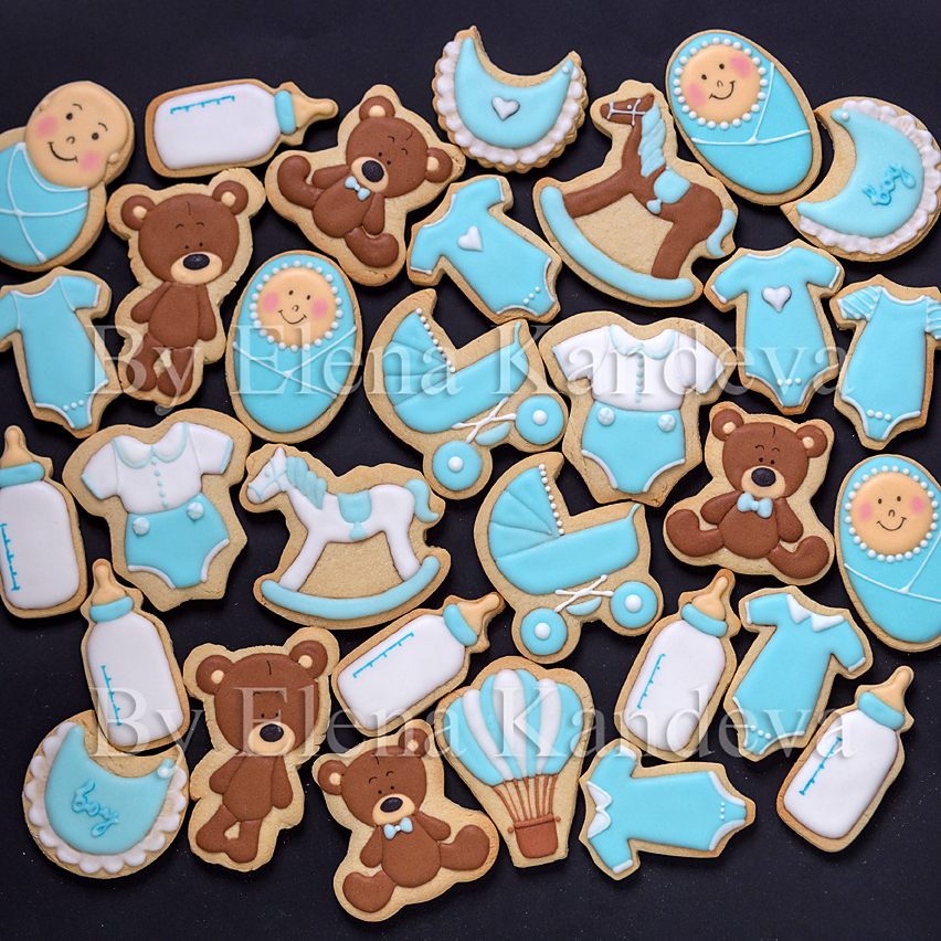 Baby Boy - Icing / Baby Shower Cookies