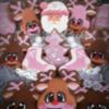 mauve Pink Christmas set