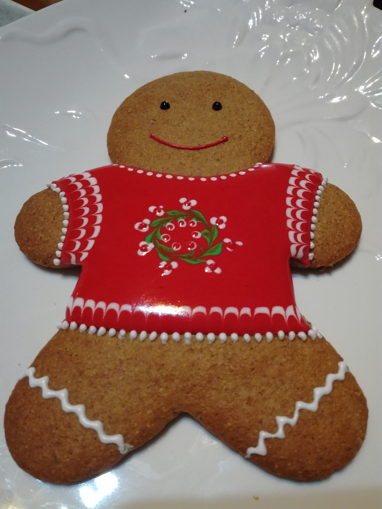 Gingerbreadman with Christmas Sweater