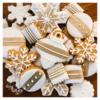 White & Gold Christmas - Daisy Loves Cake