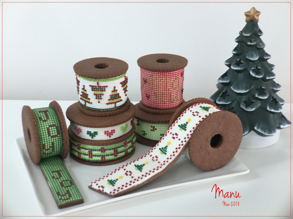Christmas Ribbon Spools |Manu
