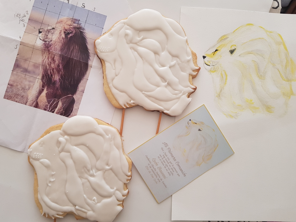 Original Photo, Holy Card, Drawing, and Cookies