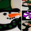 Christmas Snowman Sugar Cookie by GoBakeItUp