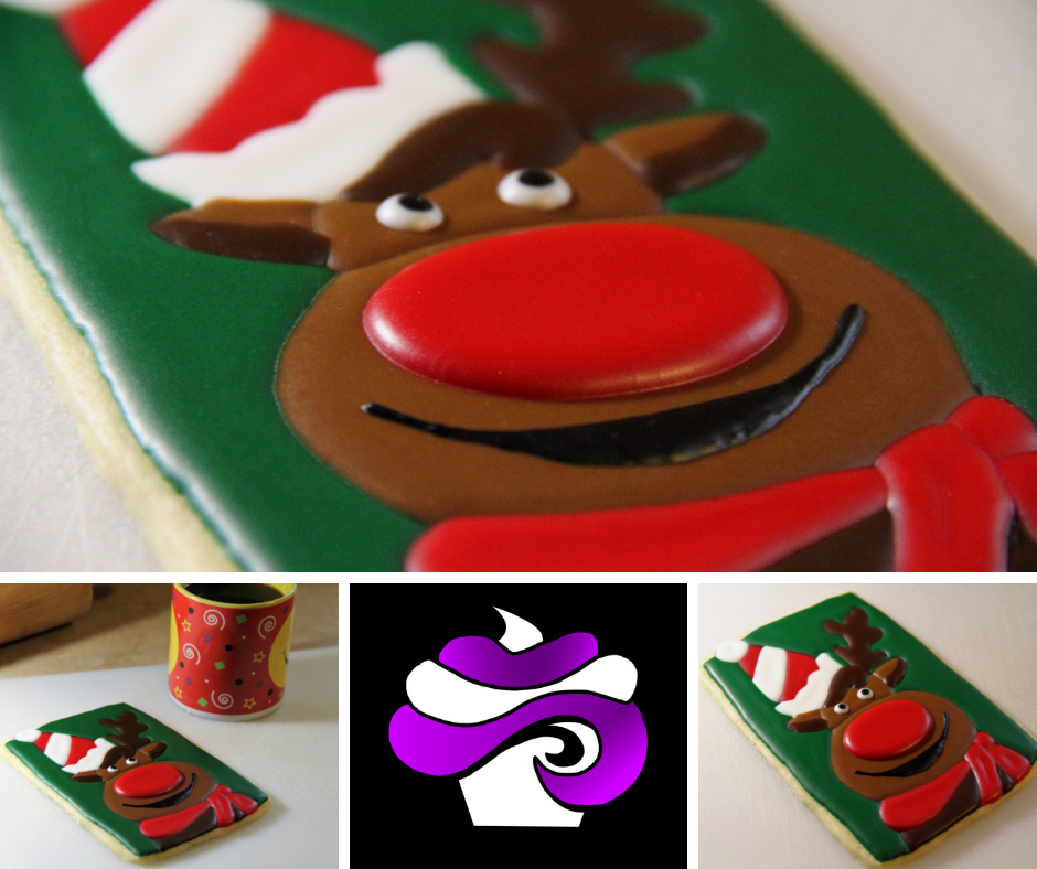 Christmas Rudolph Sugar Cookie