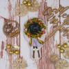 Christmas Wreath Girl Cookie