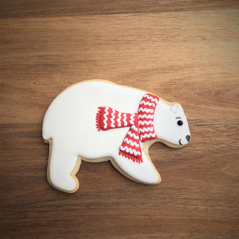 Christmas Polar Bear Cookie
